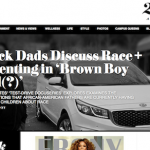 screen shot of brown boy bad(?) article on ebony.com homepage